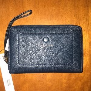 NWT Marc Jacobs midnight blue wristlet